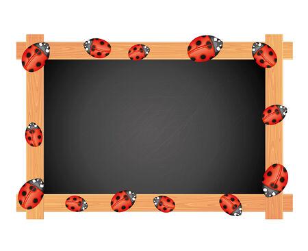 Blackboard on white   Vector