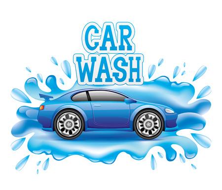 course de voiture: signe de lavage de voitures