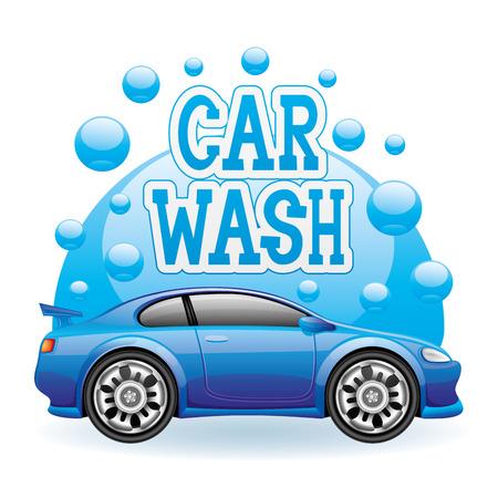 Vecteur signe de lavage de voitures Banque d'images - 25493514