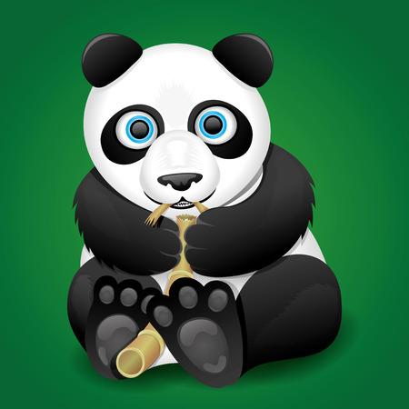 one panda: Panda  Illustration