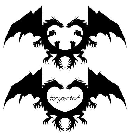 Dragon signs  Vector
