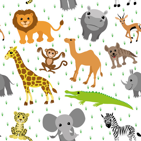 Background african animals Vector