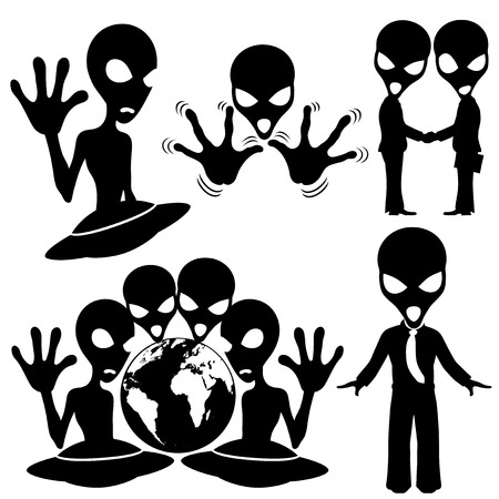 Vector set  Extraterrestrial  Vector