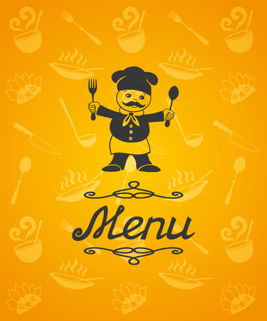 Menu illustration for restaurant, cafe  Vector