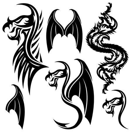 Tattoo elements  Illustration