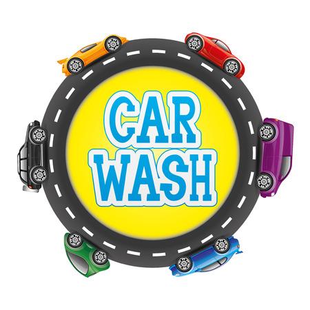 Car wash  向量圖像
