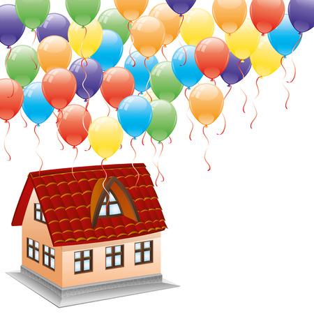 new house: New house   Illustration