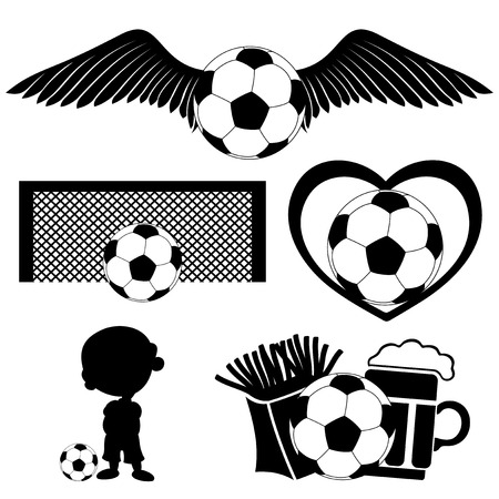 Football set  Vector