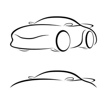 Cars outlines Vector