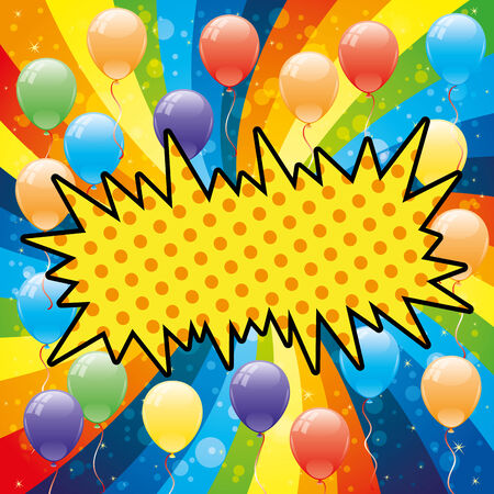 Balloons and rainbow  Vector