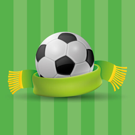 Football with scarf Vector