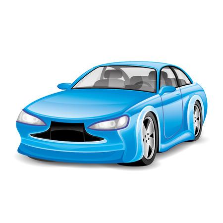 Blue car  Illusztráció