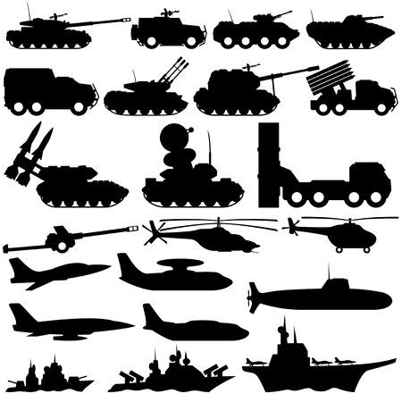 submarino: Equipo militar Vectores