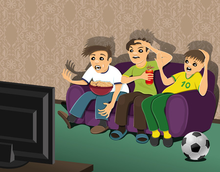 recreation rooms: Football fans