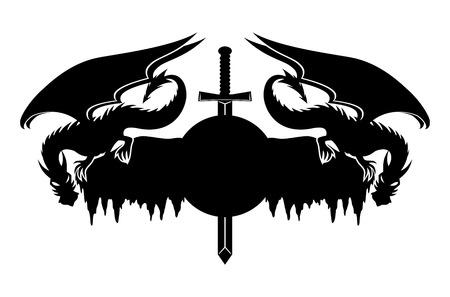 celtic background: Dragons