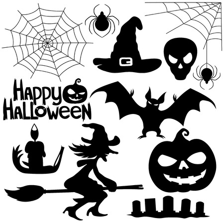 Halloween signs. Vector