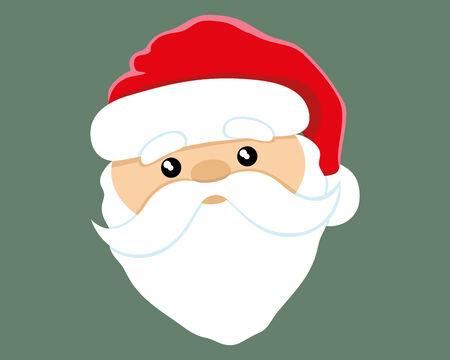 classic santa: Santa Claus. Illustration