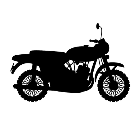 Motorcycle. Vector