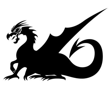 Dragon sign. Vector