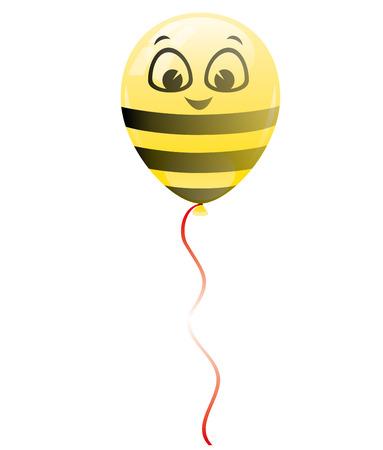 bee birthday party: Balloon.