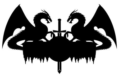 ドラゴンズ。  イラスト・ベクター素材