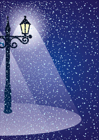 Winter night. Vector