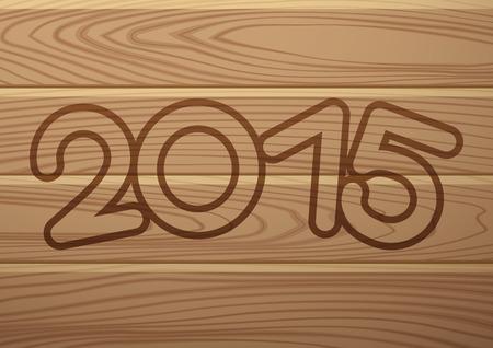 2015 year. Illustration