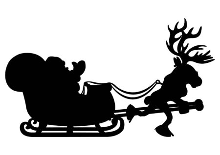 Santa Claus and reindeer. Vector