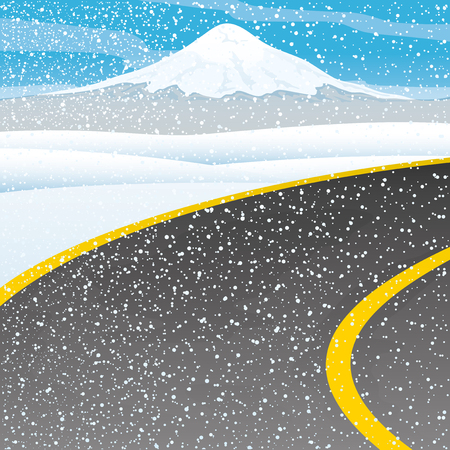 Winter road. Vector