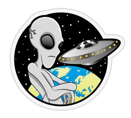 Alien. 向量圖像