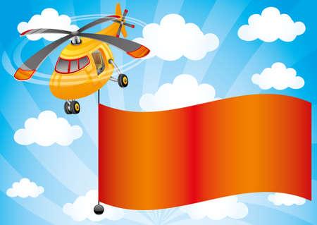 transposition: Helicopter. Illustration