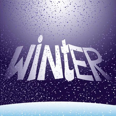 snowfalls: Winter.