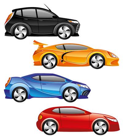 car isolated: Cars.