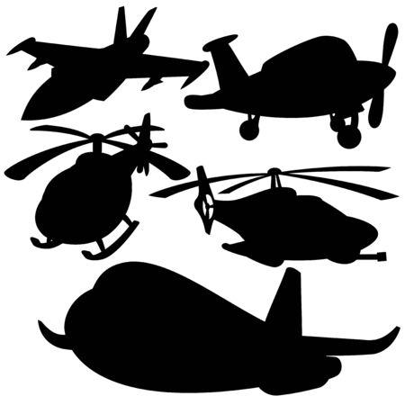 Aviation silhouette Vector