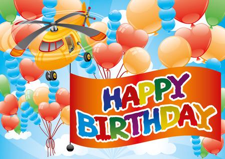 transposition: Happy Birthday. Illustration