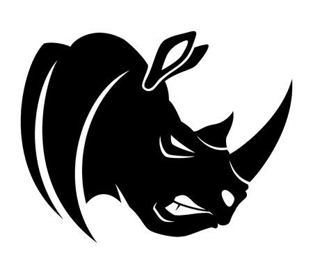 Rhinocéros. Vecteurs