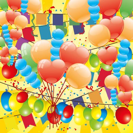 festive: Festive poster. Illustration