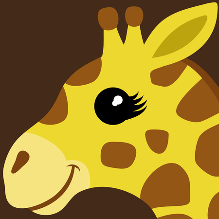 cute giraffe: Giraffe illustration Illustration