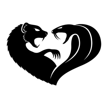 mongoose: Mongoose and cobra.