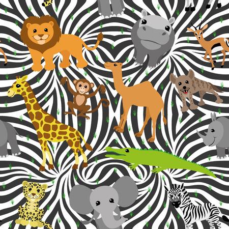 African animals. Vector