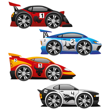 carritos de juguete: Coches. Vectores