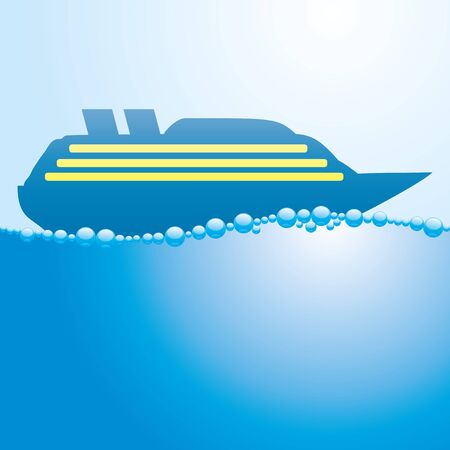 cruise liner: Cruise liner. Illustration