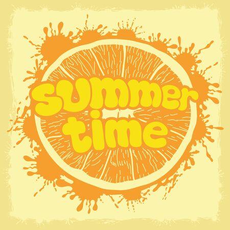 Summer time. Illustration