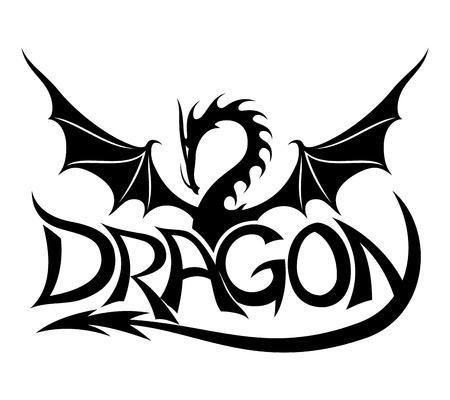 Dragon sign. Illustration