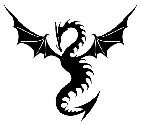 Dragon sign. Vettoriali
