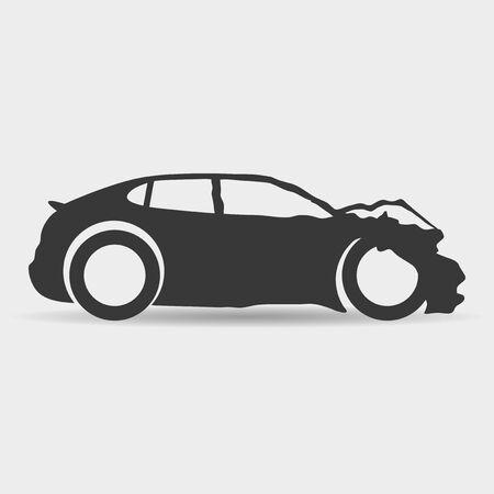 car accident: Car.