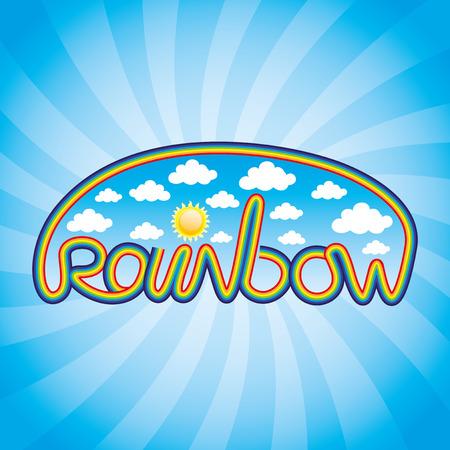 szivárvány: Rainbow. Illusztráció