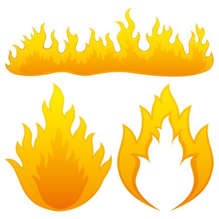 fuoco e fiamme: Fiamme del fuoco.