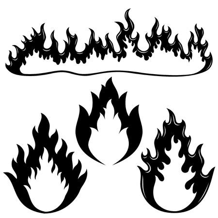 Fire flames. Vector