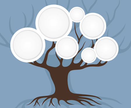 genealogical: Genealogical tree. Illustration